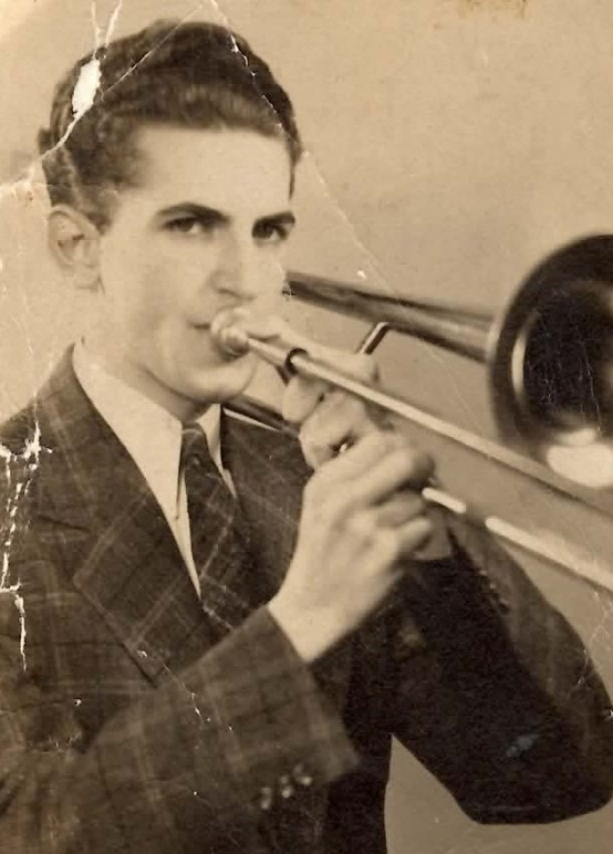 gallery/william j knittle with trombone abt 1935 2